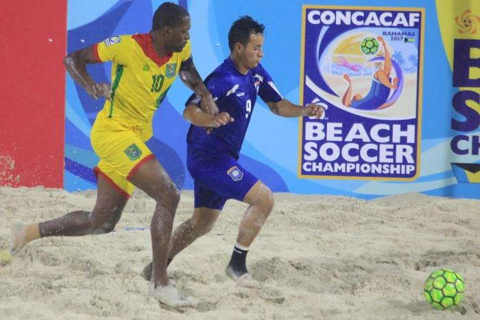Deshawn Joseph on the attack_Gy vs Belize_CONCACAF Beach Soccer Championship.jpg