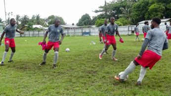 GOLDEN JAGUARS TRAIN ON SATURDAY IN PREPARATION FOR THEIR INTERNATIONAL FRIENDLY AGAINST MARTINIQUE ON TUESDAY AT MSC GROUND, LINDEN